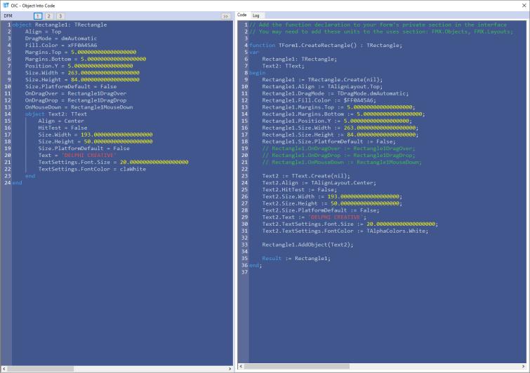 Delphi Fmx (DFM) Objects Into Code – Beyond Velocity